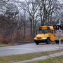 Photos show Plainwell school bus driving over tracks in front of oncoming train