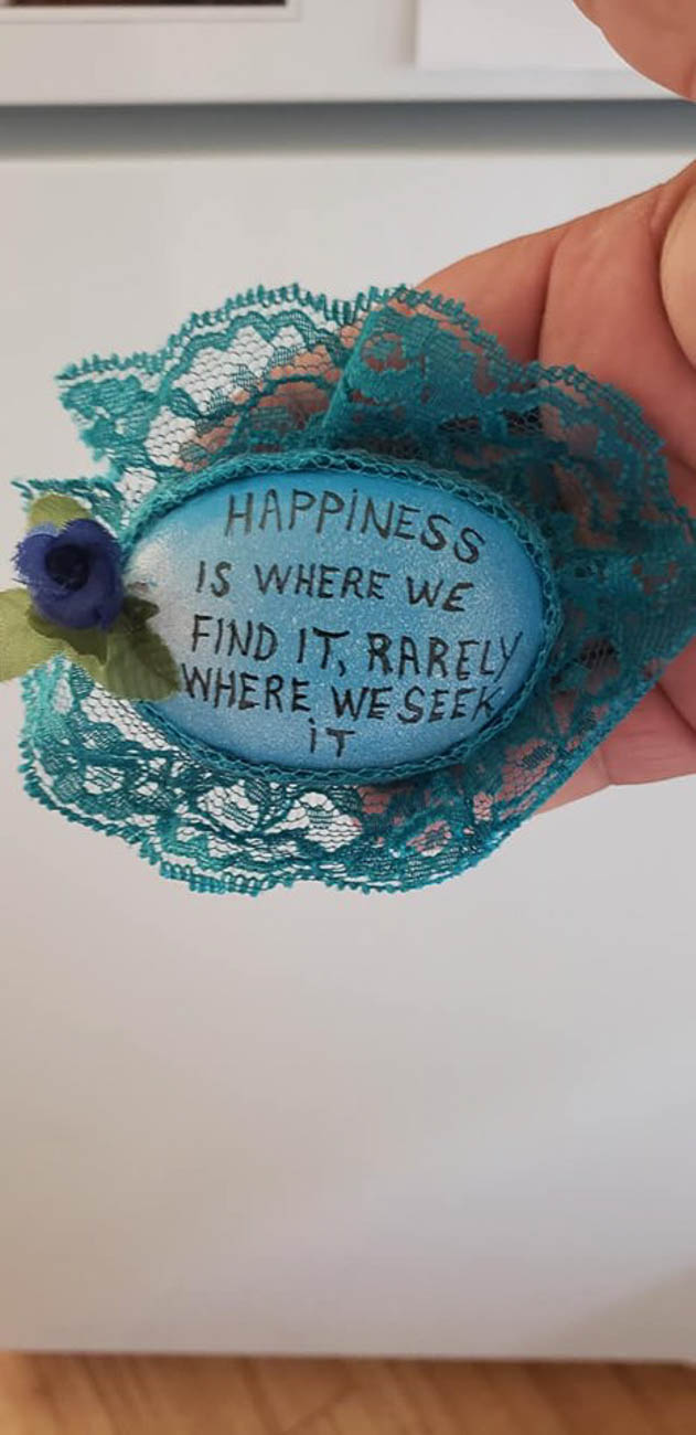The NKY Hidden Rocks Facebook page started in 2017 by founder Jo Price Craven to combat negativity she was seeing online. The concept is to design a rock with inspiring words or images, hide it in the community, and brighten someone's day when they find it. They can then keep the rock, re-hide it, or replace it with one of their own to keep the positive, traveling rocks in circulation. / Image: Boogie Cooper// Published: 8.17.19