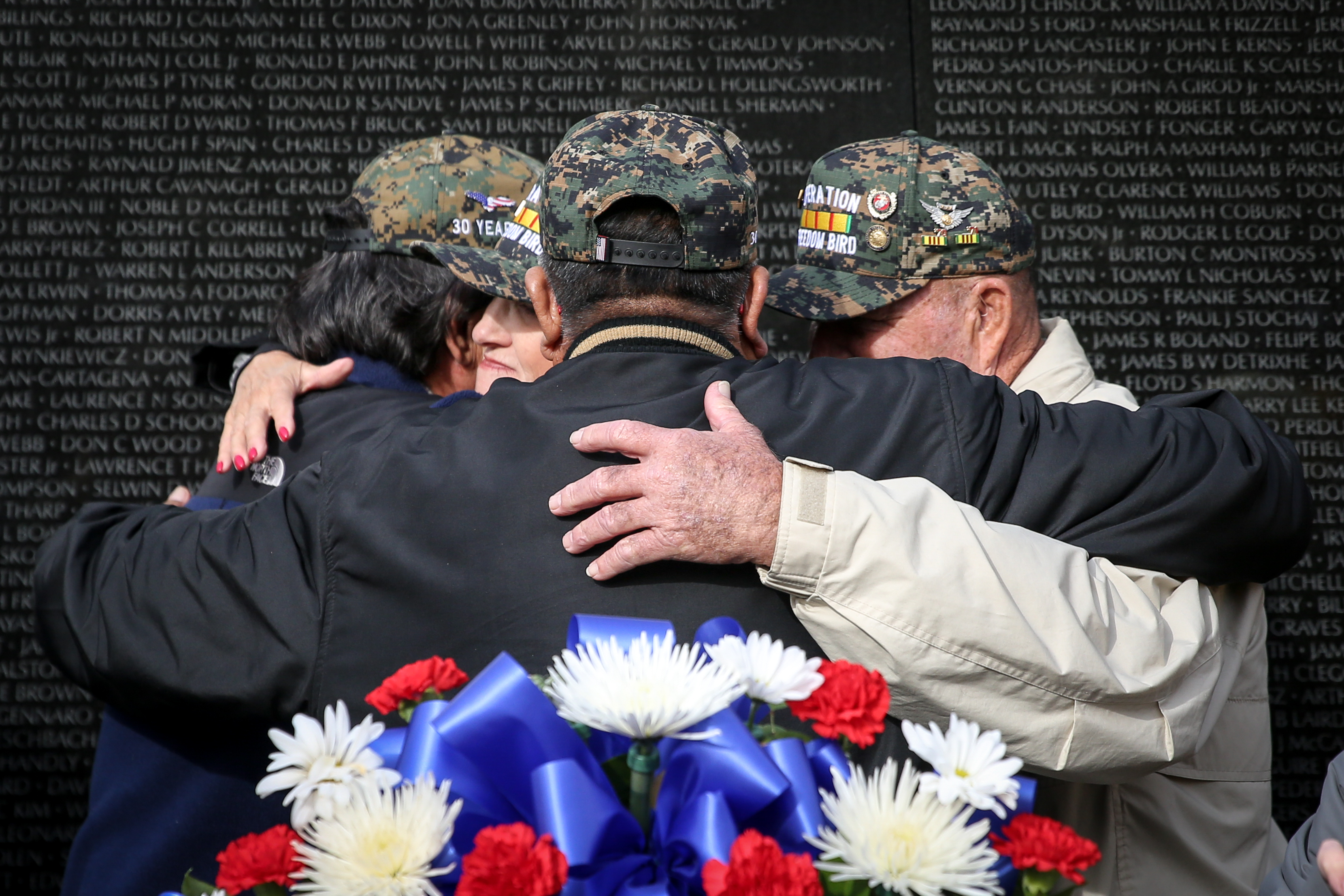 On Veterans Day, hundreds of service members and their loved ones descended upon D.C. to remember their sacrifices and the people that never made it home. Ceremonies were held at both the Vietnam Veterans Memorial and WWII Memorial, which included honoring fallen service members and remarks from public officials. (Amanda Andrade-Rhoades/DC Refined)