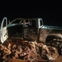 Man arrested for DWI after wrecking, catching truck on fire in Wheeler County