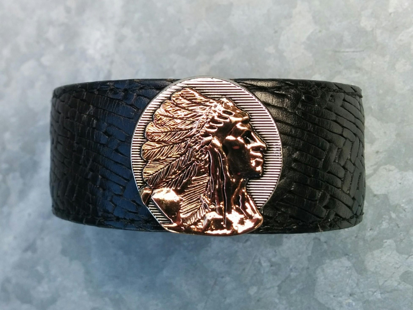 Art can literally be anything - which is why we were tickled pink when a reader nominated John Daoura from Dakota Craftworks to be an Artist of the Week. Daora works with cuff bracelets, wine barrels, belts - you name it. (Image: Dakota Craftworks)