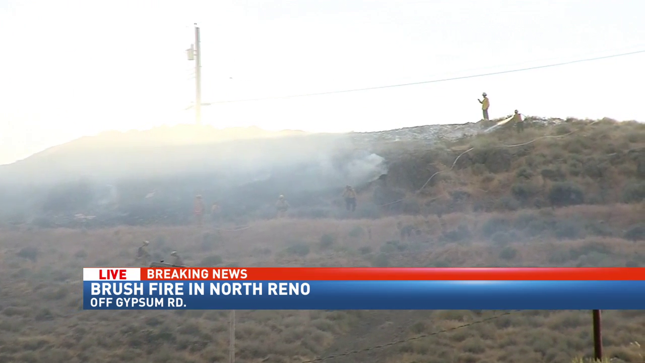 Crews respond to fire north of N. McCarran & Virginia in Reno