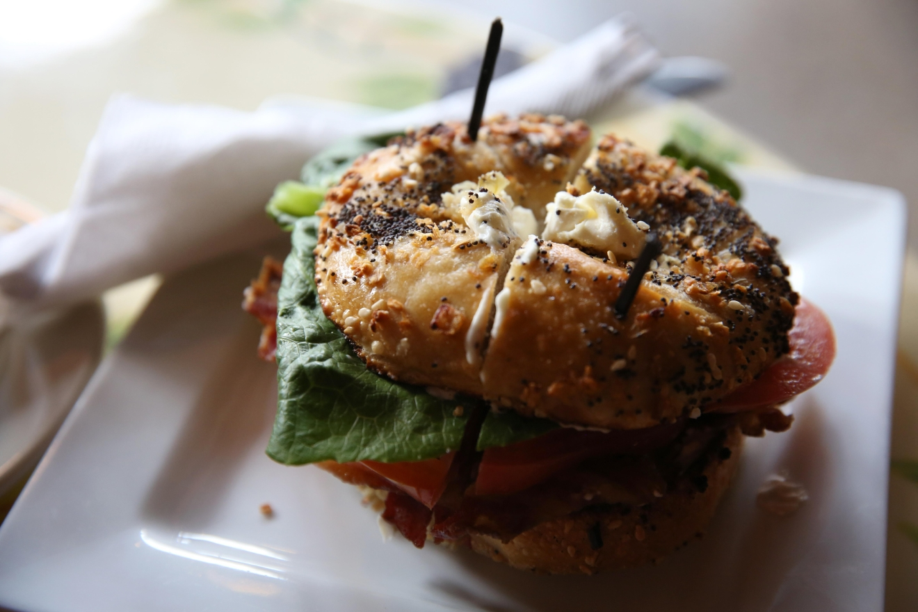 Tryst also has great breakfast options, like this BLT bagel. (Amanda Andrade-Rhoades/DC Refined)