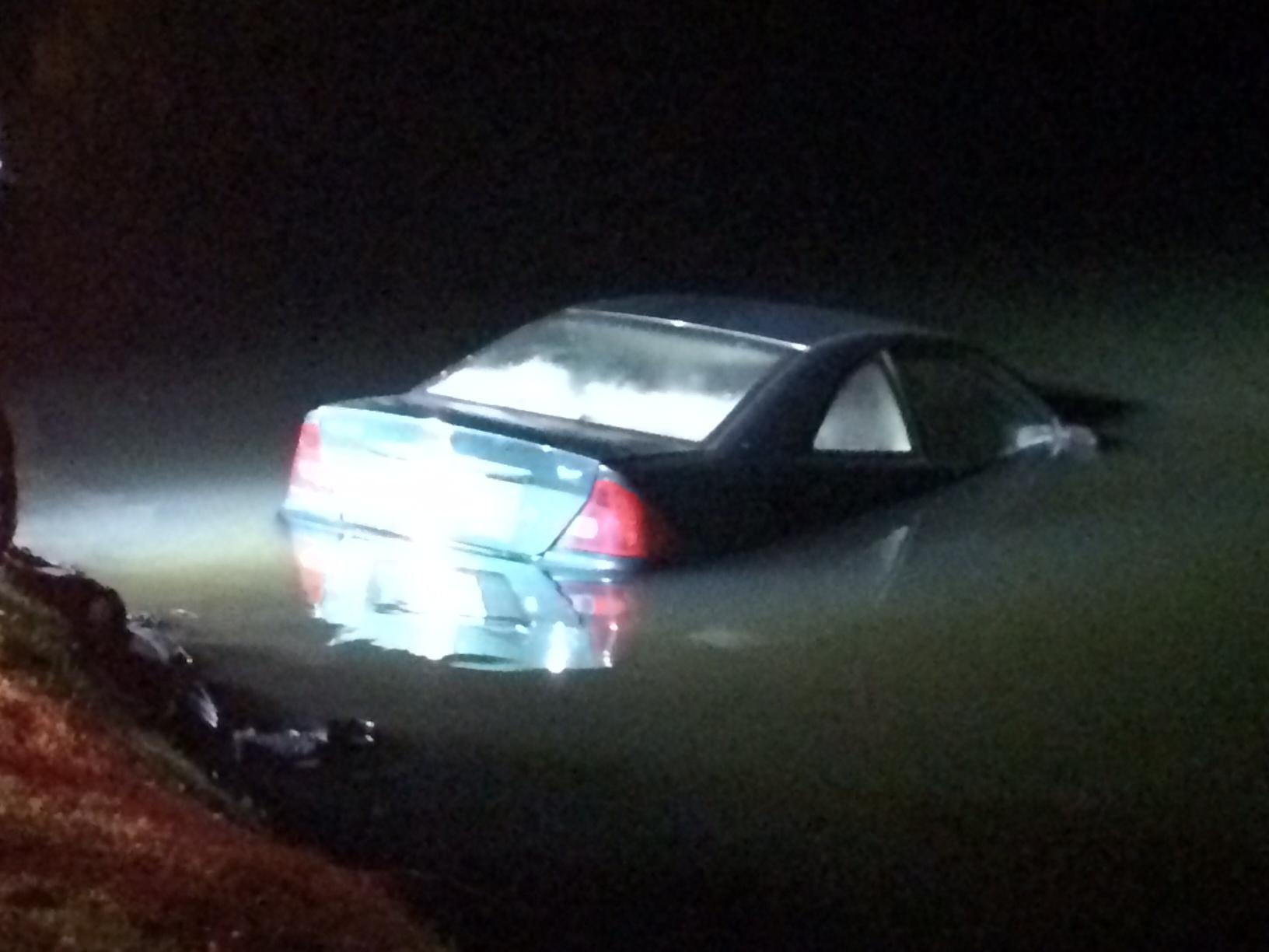 Emergency officials say a young man drove his vehicle into the lake at the KOA campgrounds Sunday night. (WLOS)