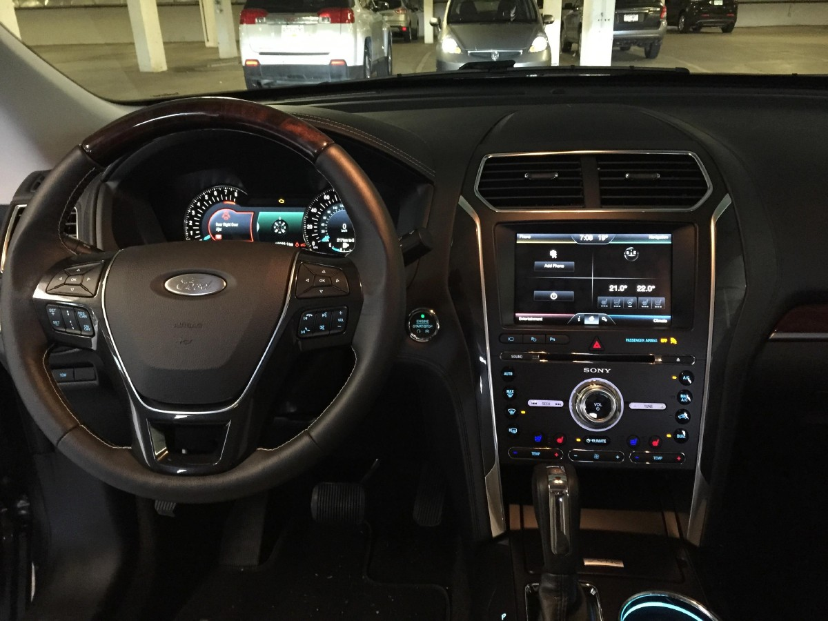 the 2016 ford explorer platinum interior is posh with up level finishes and a brushed