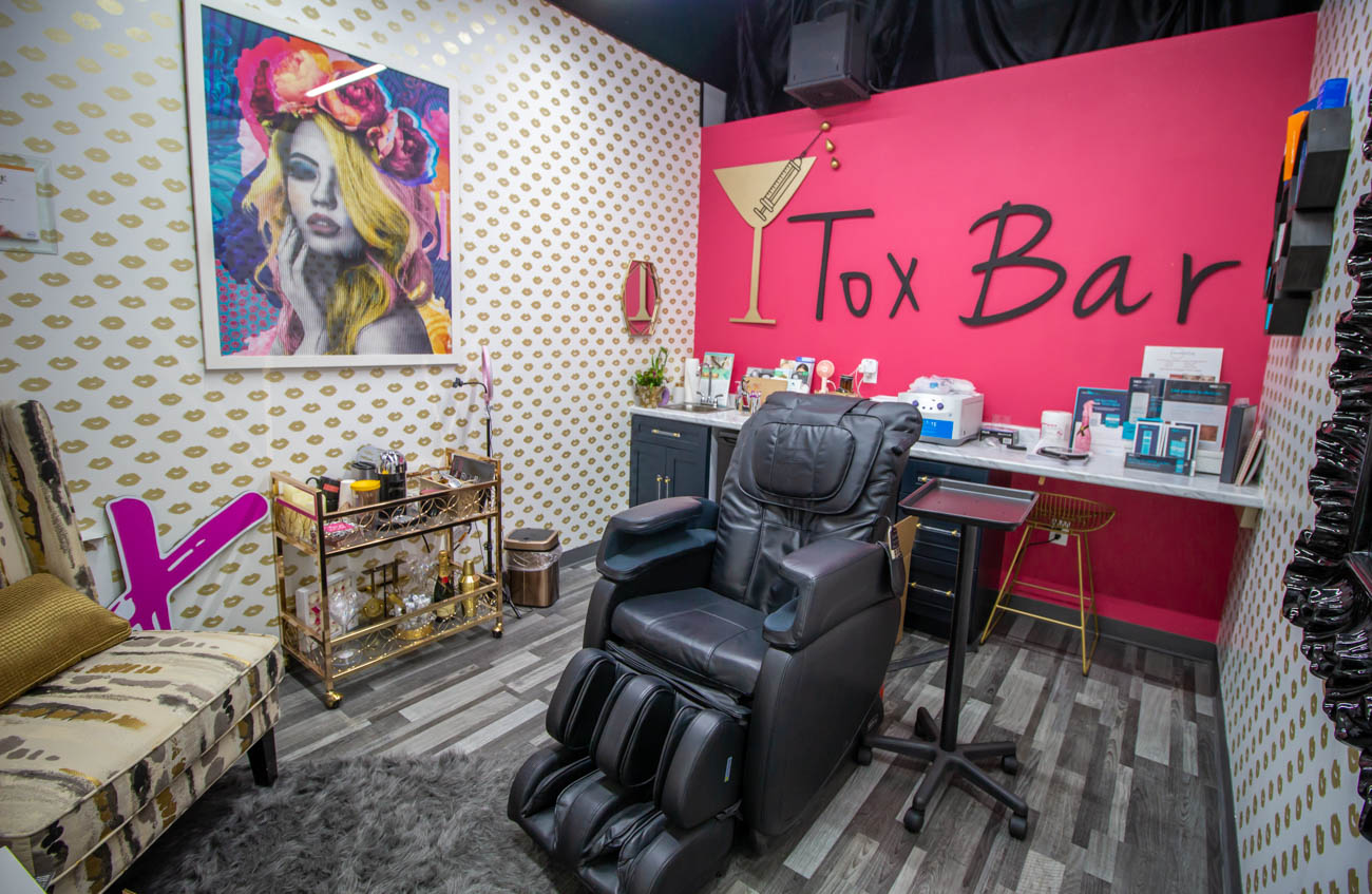 Tracy Ashworth, RN, of Bubbles and Botox operates the Tox Bar in the boutique where you can receive Botox, fillers, micro-needling, and other types of facials. / Image: Katie Robinson, Cincinnati Refined // Published: 1.7.20