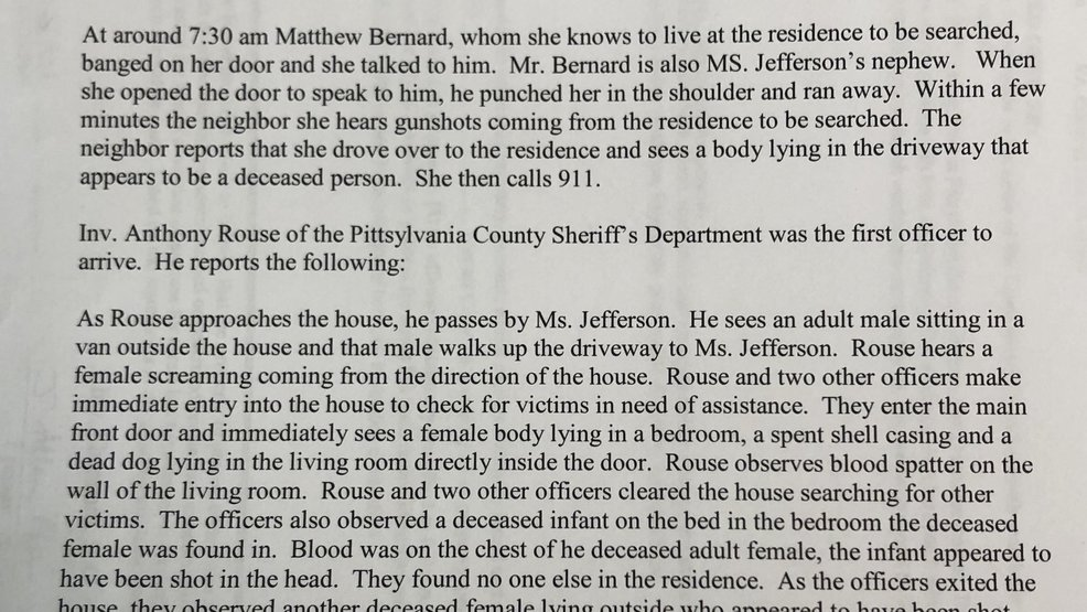 Search warrant reveals new, grisly details in Pittsylvania