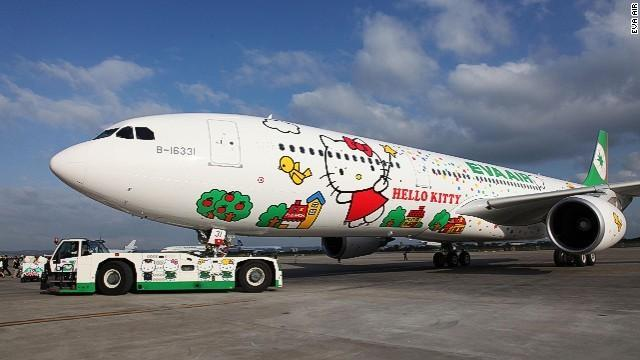 Last week, Taiwan-based EVA Air launched its first long-range jet -- flying between Taipei and Los Angeles -- emblazoned with everyone's favorite mouthless cat, Hello Kitty.