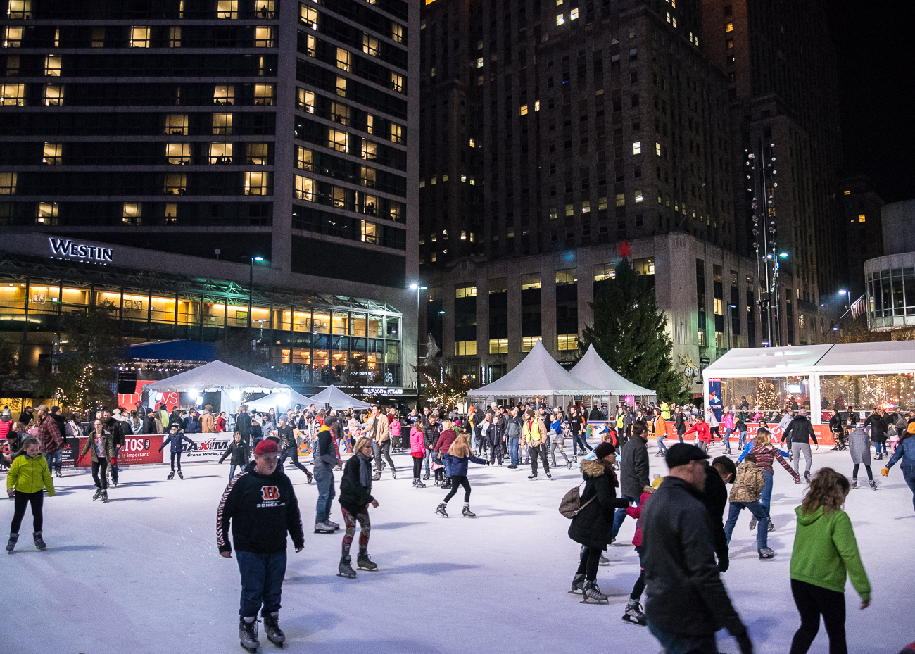 <p></p><p>The ice rink was open and filled with skaters all night long. / Image: Phil Armstrong, Cincinnati Refined // Published: 11.24.18</p>