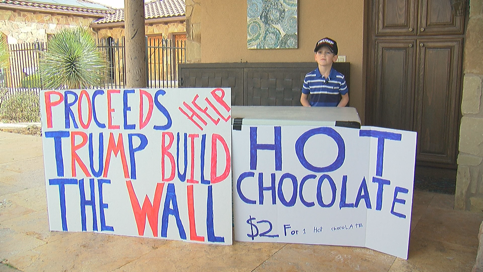 Austin boy called 'little Hitler' after selling hot cocoa to raise money for border wall