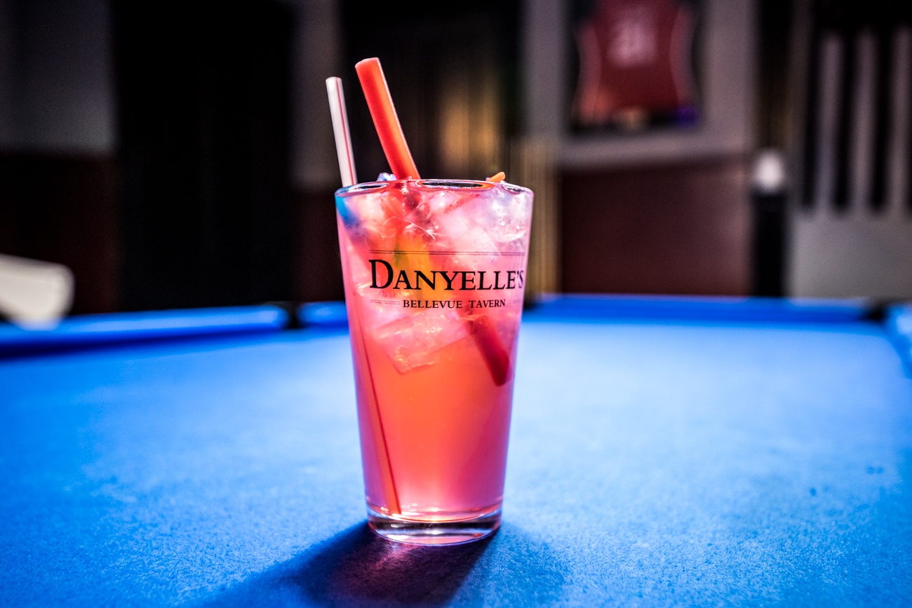 The Cherry Lupe Juice from Danyelle's Bellevue Tavern: vodka, rum, tequila, lemonade, and cherry pucker topped with Sprite / Image: Catherine Viox{ }// Published: 12.9.19