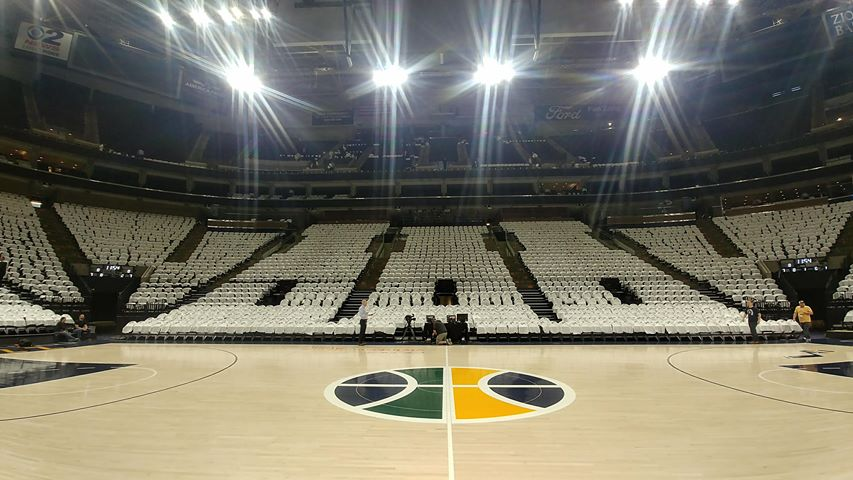 It's a white out in the Vivint Smart Home Arena for Game 4 in the NBA Western Conference playoffs between the Utah Jazz and Oklahoma City Thunder. (Photo: Brian Morris / KUTV){&amp;nbsp;}<p></p>