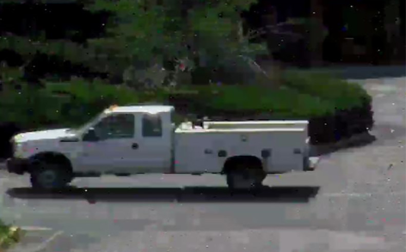 Surveillance photo shows a truck believed to have been used in the kidnapping. (Photo from Cheney Police Dept.)