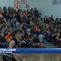 West Liberty-Salem supporting, thanking Logan at basketball game