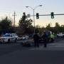 Motorcycle rider transported after collision at Sparks intersection