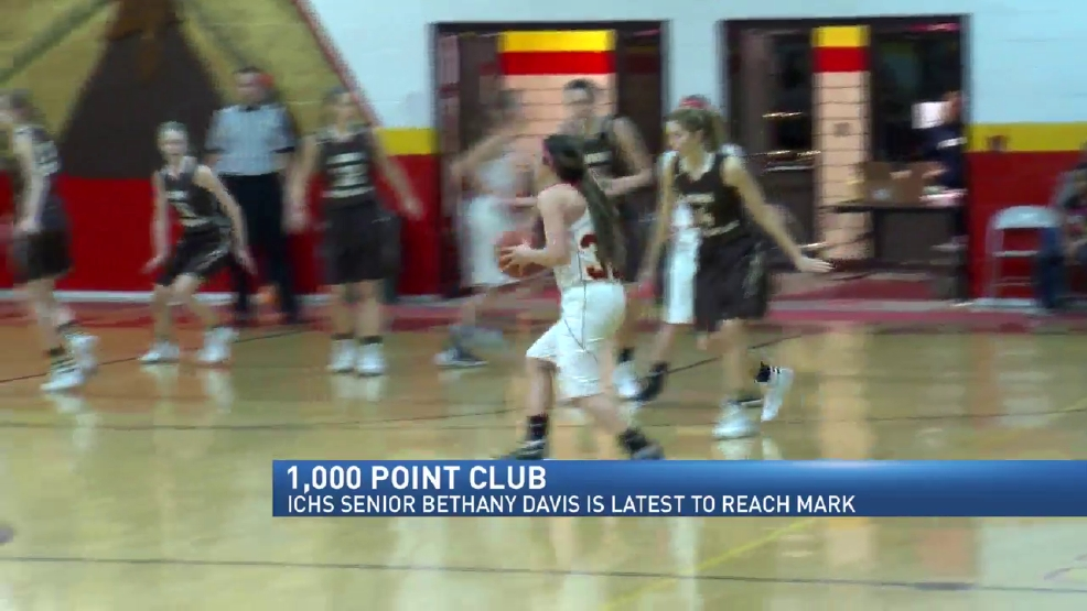 Indian Creek's Bethany Davis Latest Area  Girls Player To Hit 1,000 Point Mark
