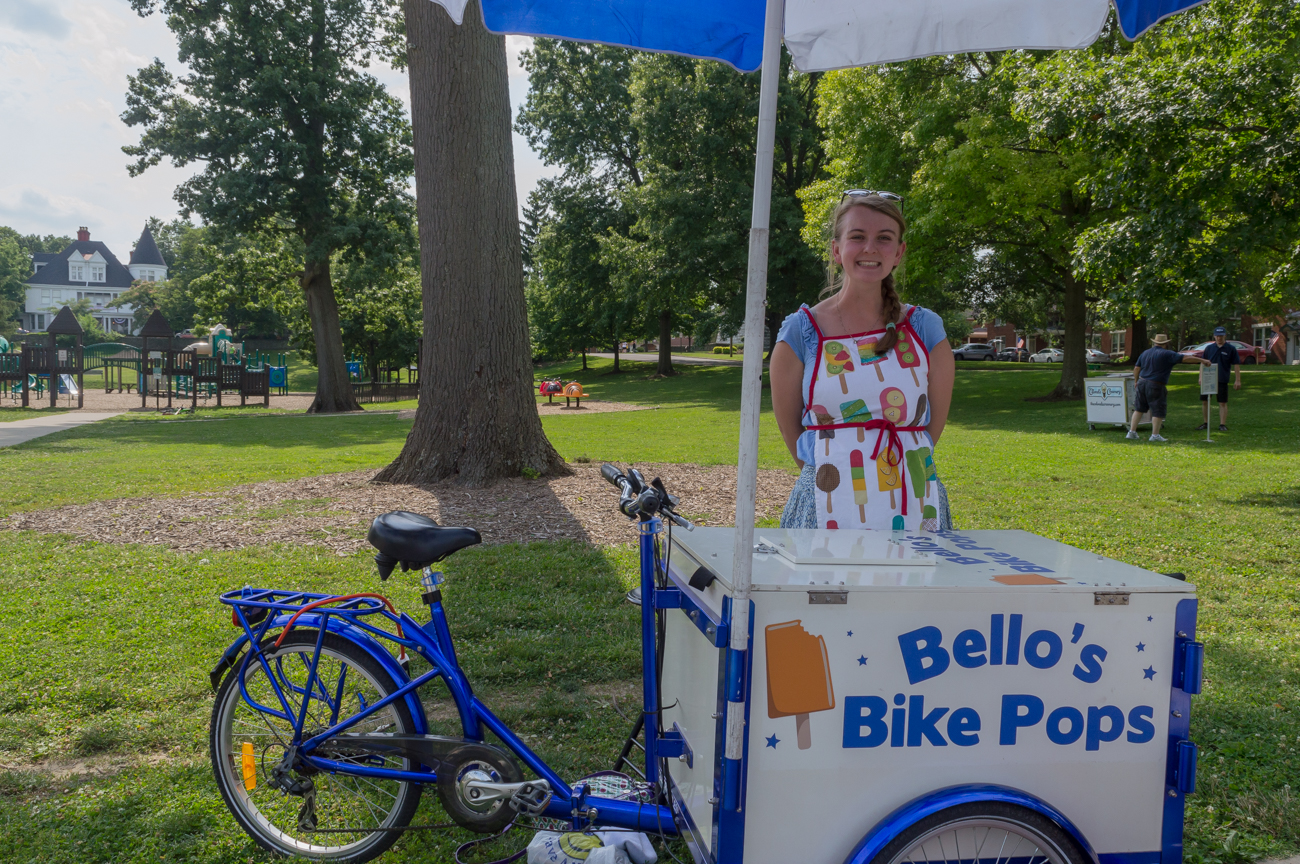 Abigail Lund with Bello's Bike Pops / Image: Mike Menke // Published: 7.4.17