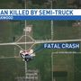 Jacksonville man dies after being hit by semi-truck