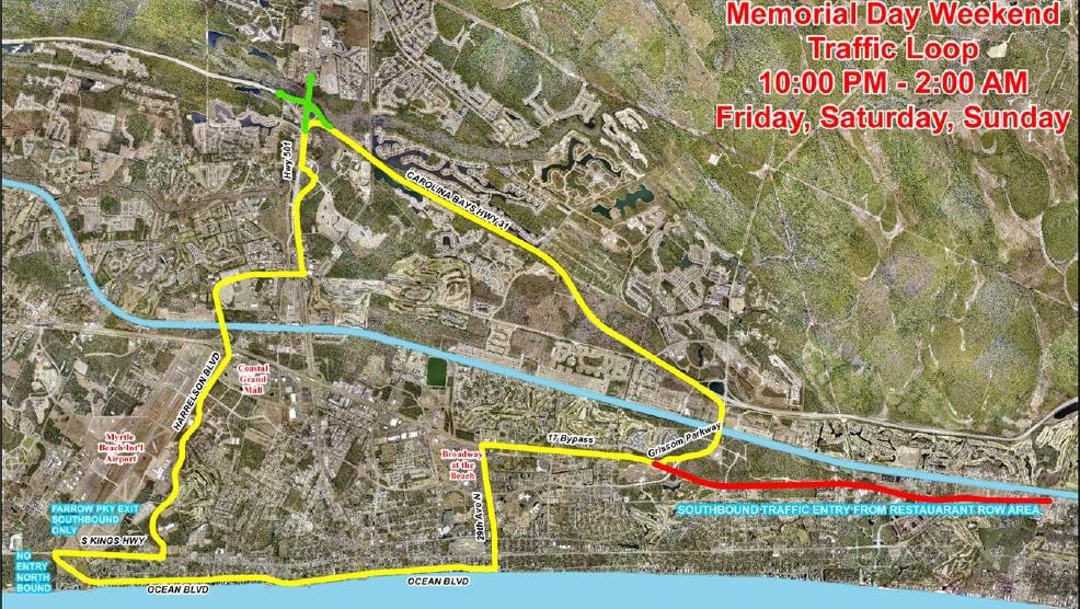2016 Memorial Day Weekend Traffic Loop Map Unveiled Wpde