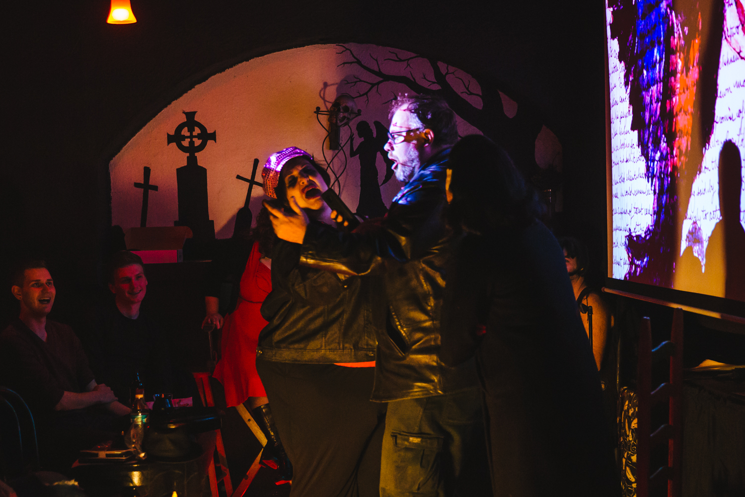 It's the Undead Cabaret! A Macabaret, if you will! Spooked in Seattle threw it's inaugural 'My Bloody Valentine' show this past weekend (Feb. 10, 2018). Performers use song, dance and sketch to explore Love In Seattle - albeit in a slightly cynical way. Afterwards, a Tarot Card reader was on hand to deliver insights into your heart's deepest darkest desires. If you missed this one, there will be one Wednesday, February 14th at 7:30 p.m. Tickets are $15, more info on spookedinseattle.com. (Image: Sunita Martini / Seattle Refined)