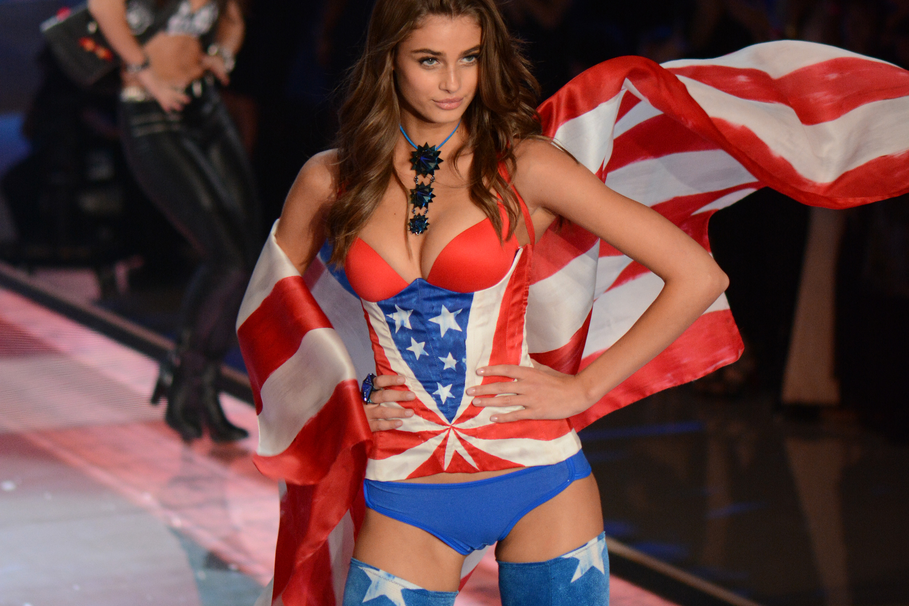 Taylor Hill at the 2015 Victoria's Secret Fashion Show (Ivan Nikolov/WENN.com)