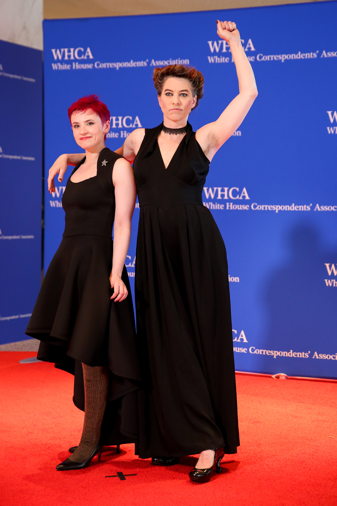 Singer Amanda Palmer and{ } screenwriter Laurie Penny. (Amanda Andrade-Rhoades/DC Refined)