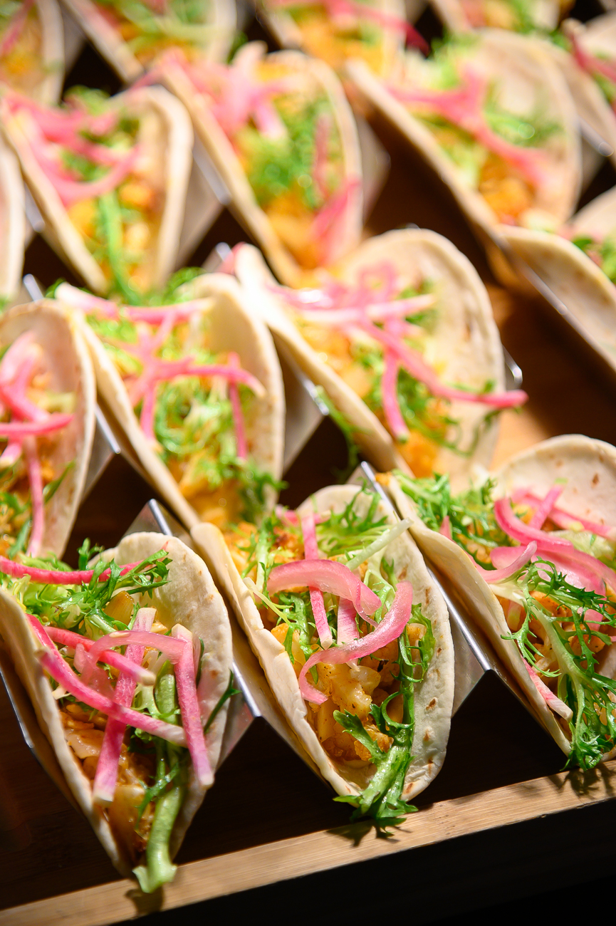 Cauliflower tacos with radish, frisee, and crema / Image: Phil Armstrong, Cincinnati Refined // Published: 1.24.20