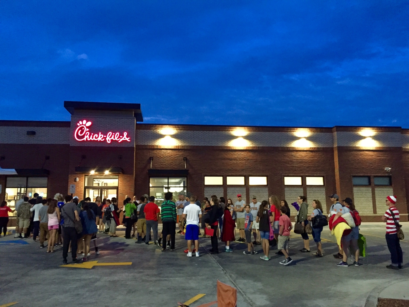 Application. I applied online. The process took 2 weeks. I interviewed at Chick-fil-A (South Riding, VA) in October Interview. You fill out an application on snag-a-job then you schedule a time for an interview in person, both have some of the same questions.