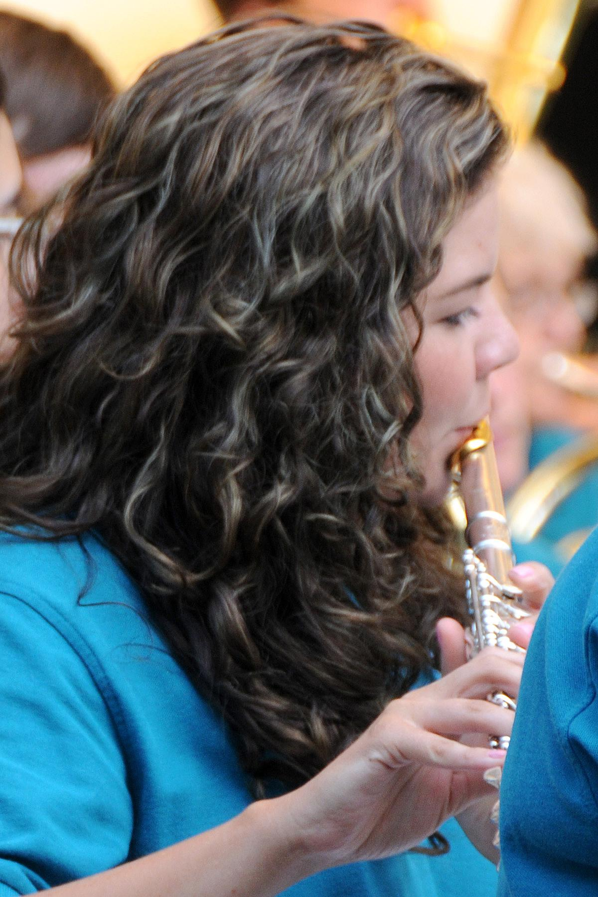 Devon Ivie hits the high notes during the performance of a rousing march. (Photo by Jim Flint)