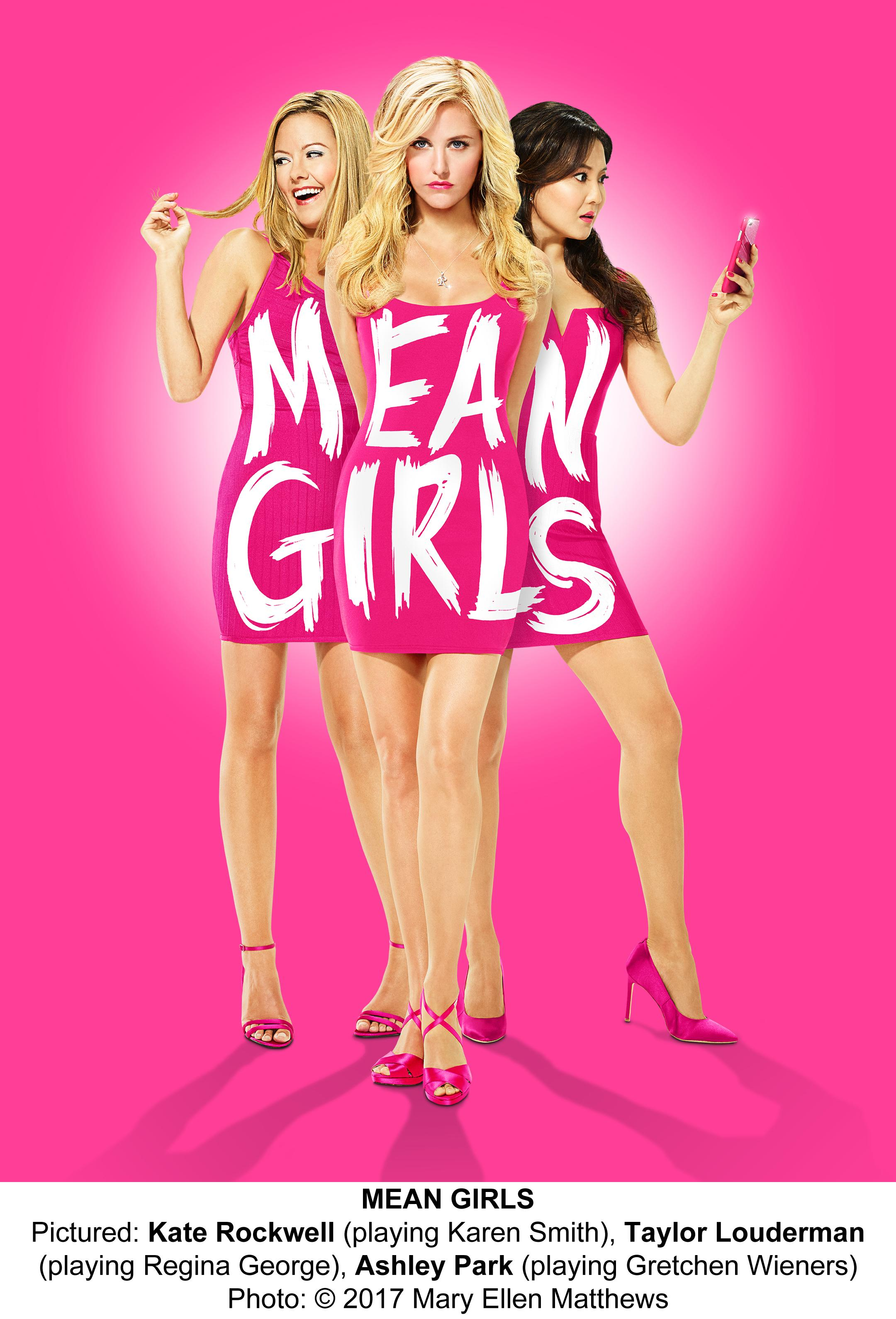 Pictured: Kate Rockwell as Karen Smith, Taylor Louderman as Regina George and Ashley Park as Gretchen Wieners (Image: Mary Ellen Matthews)