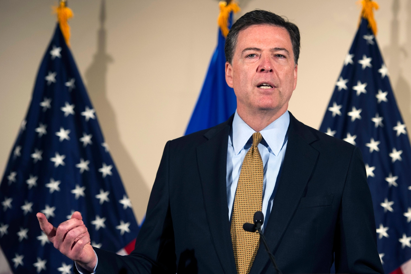 FBI Director James Comey makes a statement at FBI Headquarters in Washington, Tuesday, July 5, 2016. Comey said 110 emails sent or received on Hillary Clinton's server contained classified information. (AP Photo/Cliff Owen)