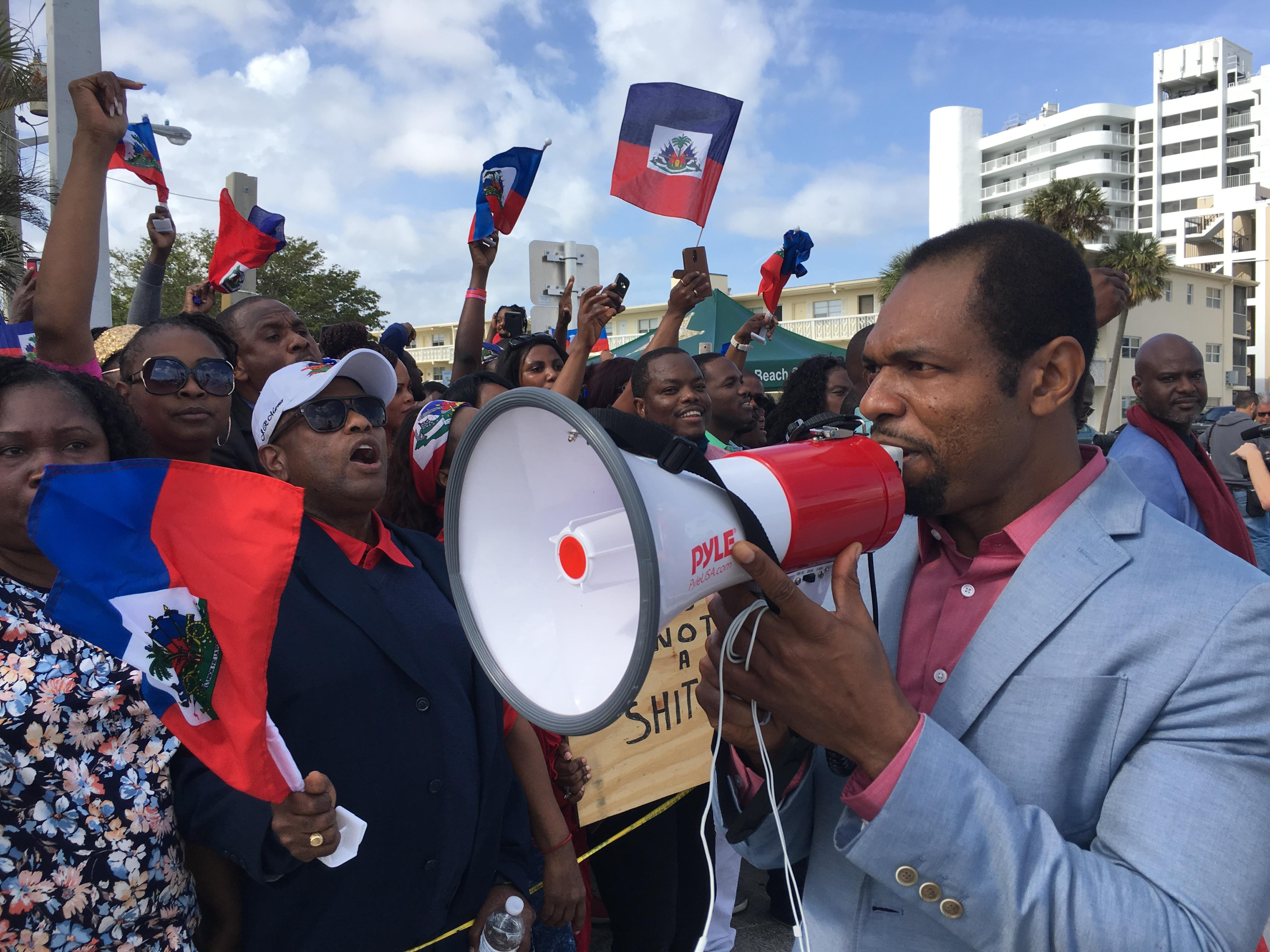 Hundreds of Haitians sent their own message after Trump's controversial comments (WPEC)