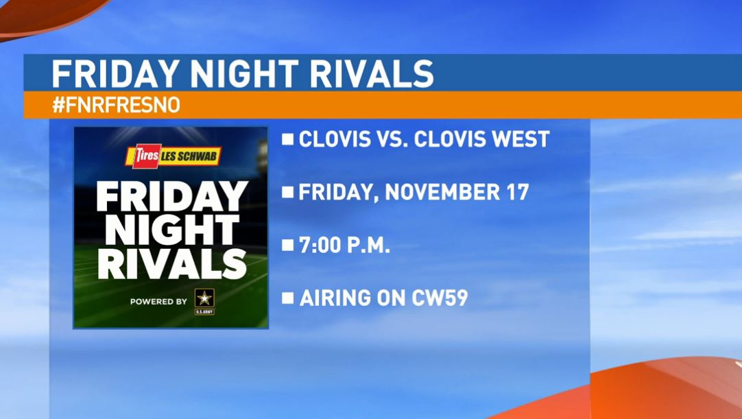 If you can't make it to the game, you can watch it live on CW59 Friday at 7:00 p.m.