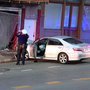 Car hits building in Mt. Auburn